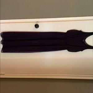Express plum sheer illusion maxi dress size xs
